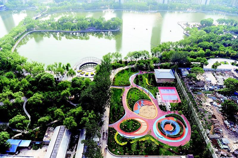 太原龙潭公园有了儿童乐园